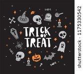 vector halloween poster with... | Shutterstock .eps vector #1175330542