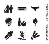 leisure icon. 9 leisure vector... | Shutterstock .eps vector #1175331262