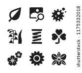 flora icon. 9 flora vector...   Shutterstock .eps vector #1175332018