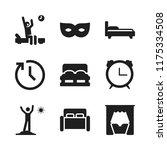 sleep icon. 9 sleep vector... | Shutterstock .eps vector #1175334508