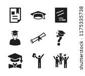 diploma icon. 9 diploma vector...   Shutterstock .eps vector #1175335738