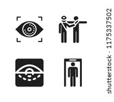 scan icon. 4 scan vector icons...   Shutterstock .eps vector #1175337502
