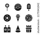 flavor icon. 9 flavor vector... | Shutterstock .eps vector #1175341042