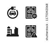 automotive icon. 4 automotive...   Shutterstock .eps vector #1175342068