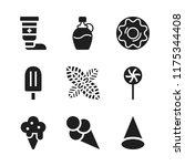 flavor icon. 9 flavor vector... | Shutterstock .eps vector #1175344408