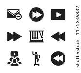 forward icon. 9 forward vector... | Shutterstock .eps vector #1175346832