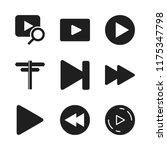 forward icon. 9 forward vector... | Shutterstock .eps vector #1175347798