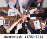 united hands of business team... | Shutterstock . vector #1175348758