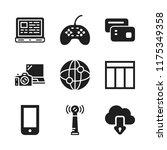 wireless icon. 9 wireless...   Shutterstock .eps vector #1175349358