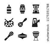 beat icon. 9 beat vector icons... | Shutterstock .eps vector #1175351788