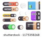 set of alkaline battery power.... | Shutterstock .eps vector #1175358268