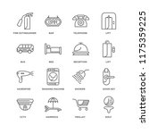 set of 16 simple line icons... | Shutterstock .eps vector #1175359225