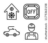 set of 4 vector icons such as... | Shutterstock .eps vector #1175363158