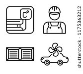 set of 4 vector icons such as... | Shutterstock .eps vector #1175363212