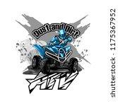 quad bike off road atv logo ...   Shutterstock .eps vector #1175367952