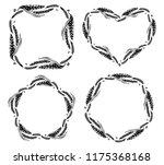 wheat set of round  heart  star ... | Shutterstock .eps vector #1175368168