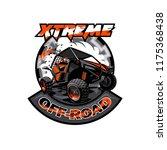off road atv buggy logo ... | Shutterstock .eps vector #1175368438