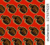 grizzly bear claw vector... | Shutterstock .eps vector #1175374225