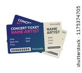 set of colorful concert tickets.... | Shutterstock . vector #1175374705
