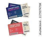 paper ticket. music  dance ...   Shutterstock . vector #1175374708