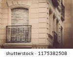 color image of a bricked up... | Shutterstock . vector #1175382508