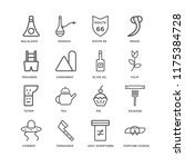 set of 16 simple line icons... | Shutterstock .eps vector #1175384728