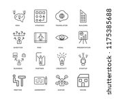 set of 16 simple line icons... | Shutterstock .eps vector #1175385688