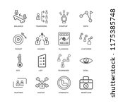 set of 16 simple line icons...   Shutterstock .eps vector #1175385748