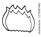 line drawing cartoon blue flame | Shutterstock .eps vector #1175387482