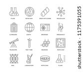 set of 16 simple line icons... | Shutterstock .eps vector #1175391055
