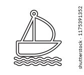 sailboat icon vector isolated... | Shutterstock .eps vector #1175391352