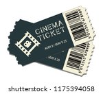 two cinema tickets isolated on... | Shutterstock .eps vector #1175394058