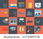 set of 20 icons such as... | Shutterstock .eps vector #1175394778