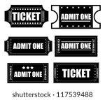 tickets vectors | Shutterstock .eps vector #117539488