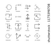 set of 16 simple line icons... | Shutterstock .eps vector #1175398708