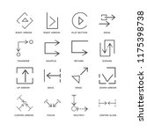 set of 16 simple line icons... | Shutterstock .eps vector #1175398738
