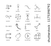 set of 16 simple line icons... | Shutterstock .eps vector #1175398792