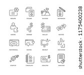 set of 16 simple line icons... | Shutterstock .eps vector #1175400238