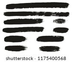 paint brush lines high detail... | Shutterstock .eps vector #1175400568
