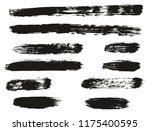paint brush lines high detail... | Shutterstock .eps vector #1175400595