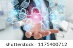 web security protection... | Shutterstock . vector #1175400712