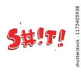 cartoon doodle swear word   Shutterstock .eps vector #1175405938