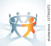 vector togetherness concept... | Shutterstock .eps vector #117541072