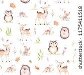 cute baby fox  deer animal... | Shutterstock . vector #1175411518