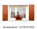 beautiful white window... | Shutterstock . vector #1175417395