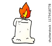 cartoon doodle lit candle | Shutterstock .eps vector #1175418778