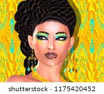 a new hairstyle of braids ... | Shutterstock . vector #1175420452
