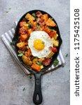 skillet breakfast hash with...   Shutterstock . vector #1175425108