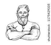 vector illustration of a strong ... | Shutterstock .eps vector #1175429335