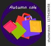 shopping autumn sale paper...   Shutterstock .eps vector #1175438458